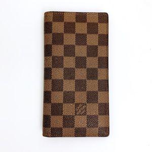 Louis Vuitton Brazza Damier Ebene Canvas Wallet